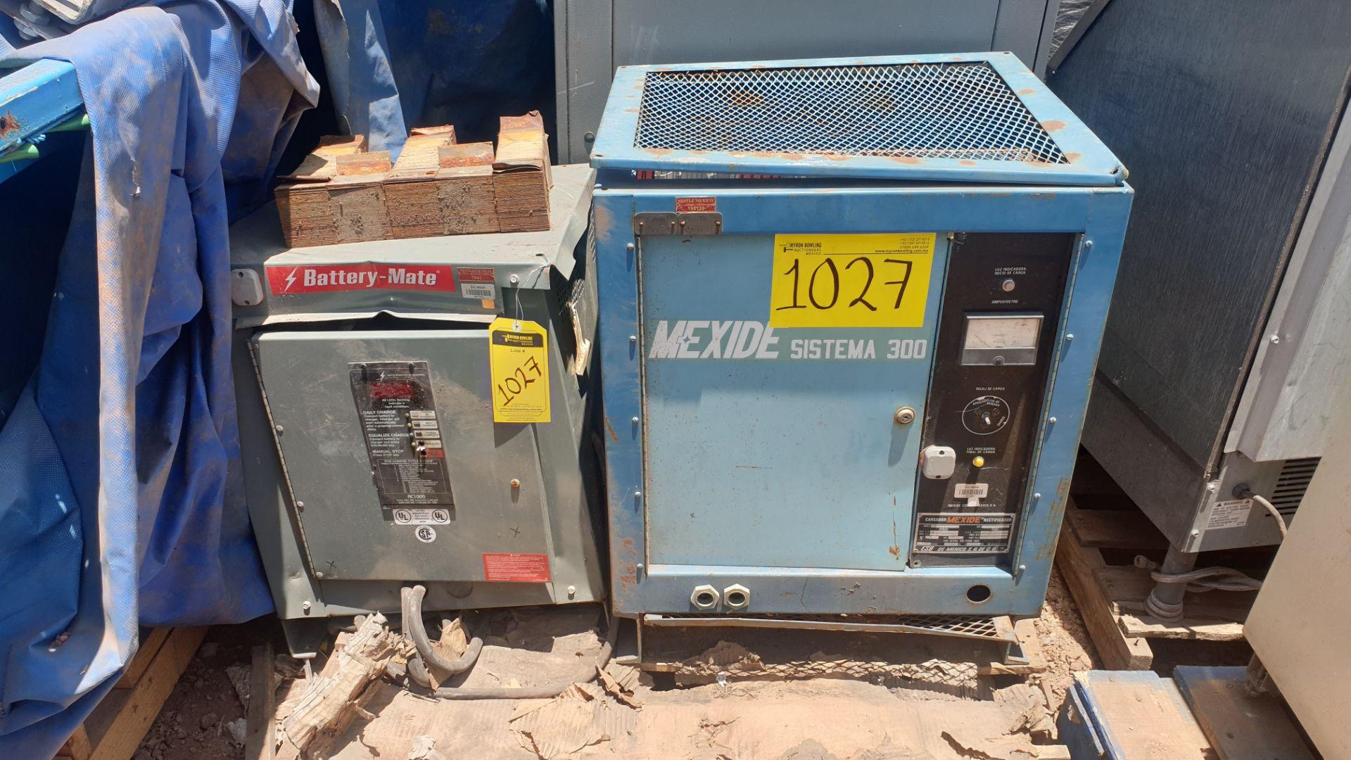 1 Battery-Mate charger, model 1050H3-18C 208/240/480V, 1 Mexide charger model CAS18.3.700