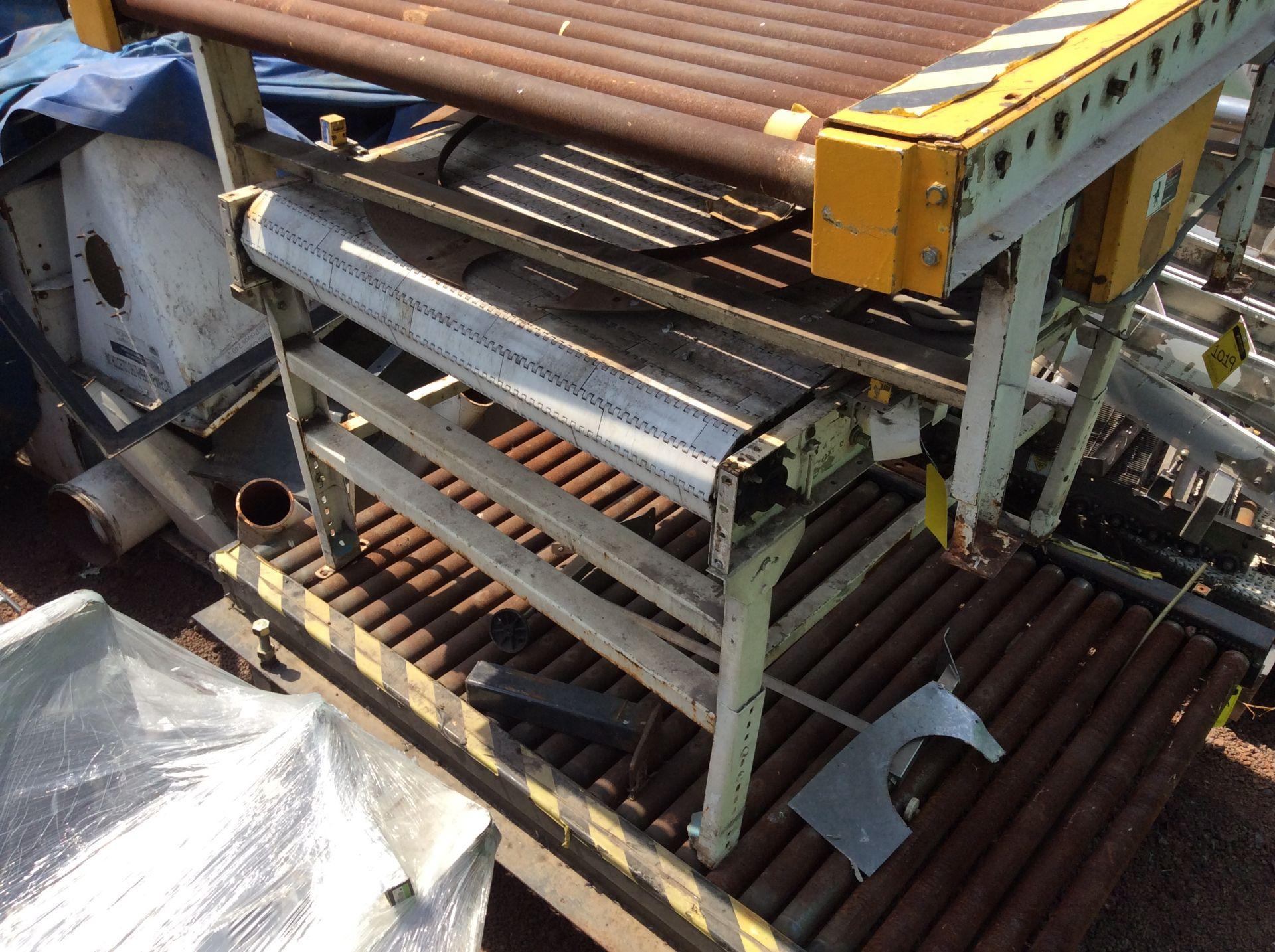 1 Roller conveyor, measures 1.37 x 1.50 x .67, 1 Conveyor measures 1.20 x 2.08x .65 - Image 5 of 8