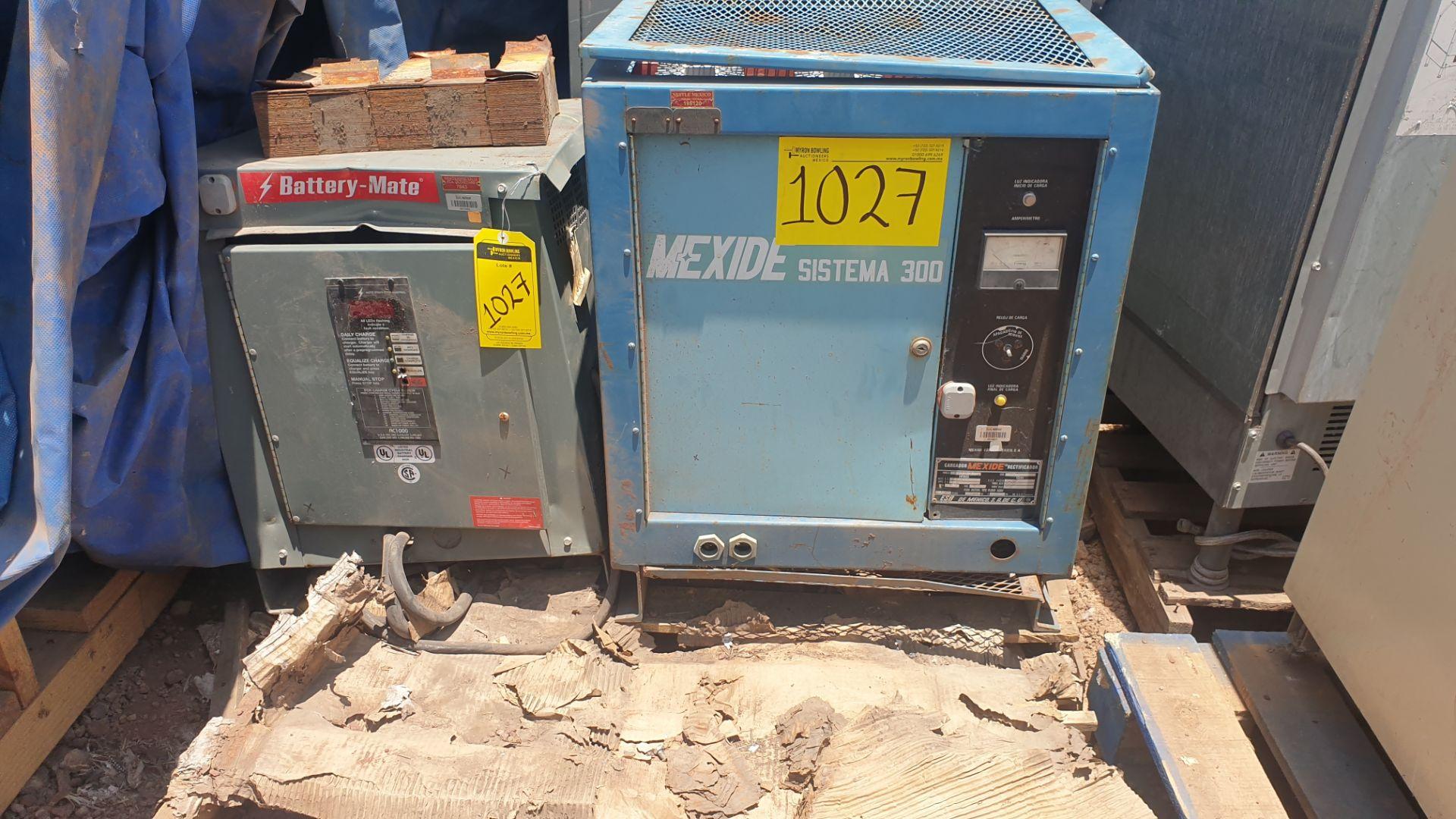 1 Battery-Mate charger, model 1050H3-18C 208/240/480V, 1 Mexide charger model CAS18.3.700 - Image 2 of 9