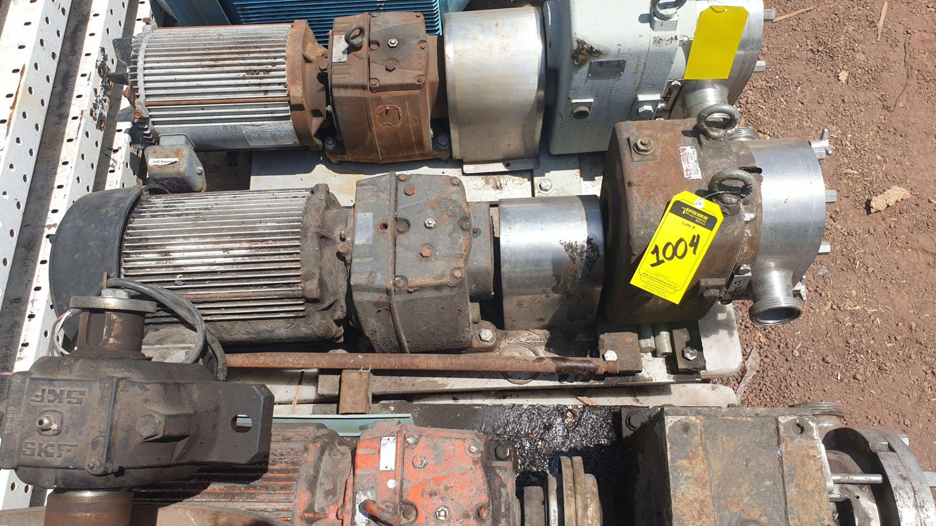 Fristam Lobe pump, model FKL75A serial number FKL75A1315303 includes motor - Image 7 of 9
