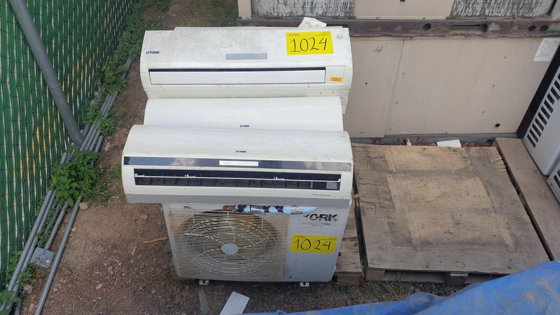 4 York Condensing units, includes 5 York minisplit, models YHEC12FS-ADG, YSEC12FD-ADG - Image 2 of 7