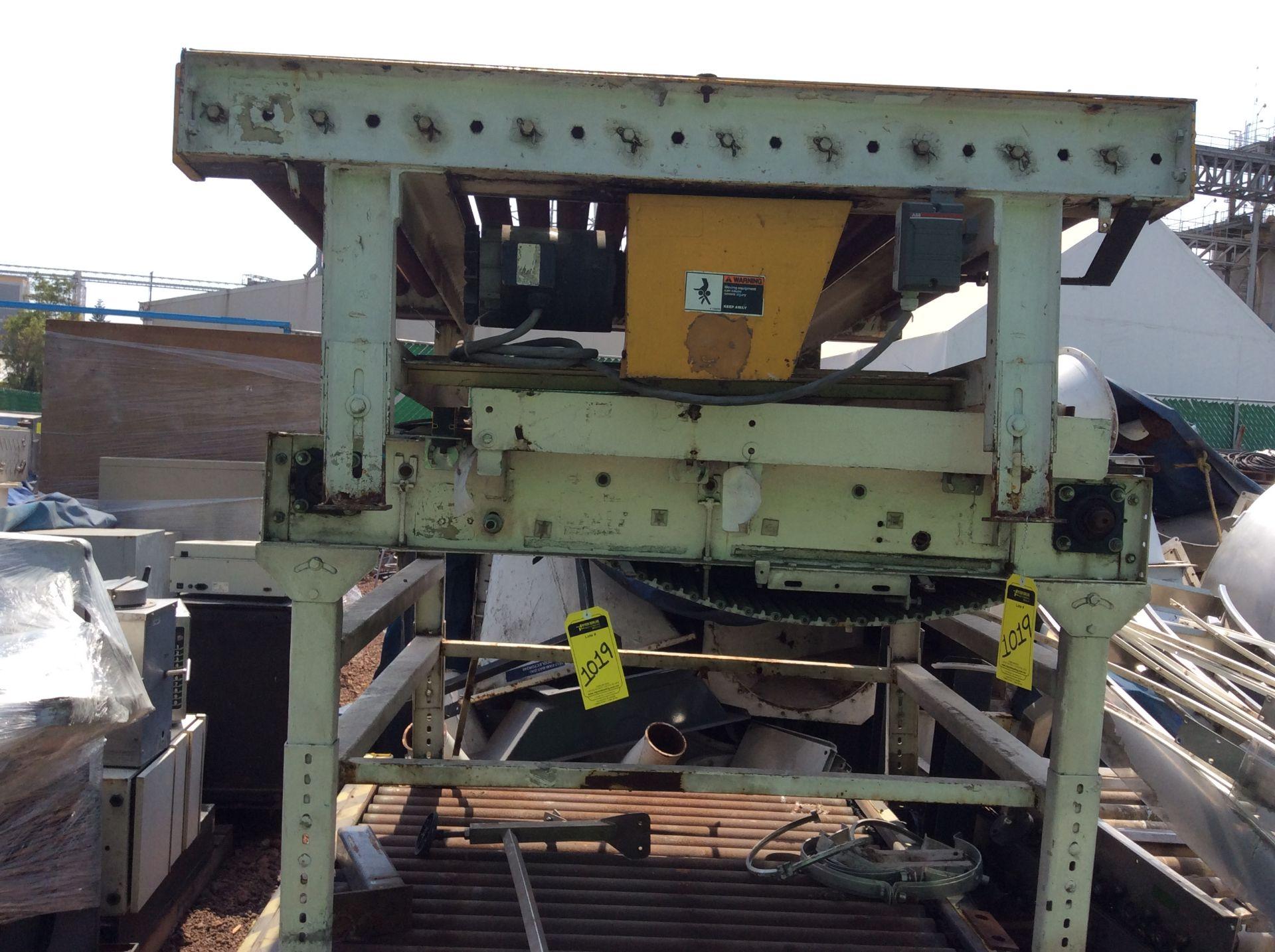 1 Roller conveyor, measures 1.37 x 1.50 x .67, 1 Conveyor measures 1.20 x 2.08x .65 - Image 2 of 8
