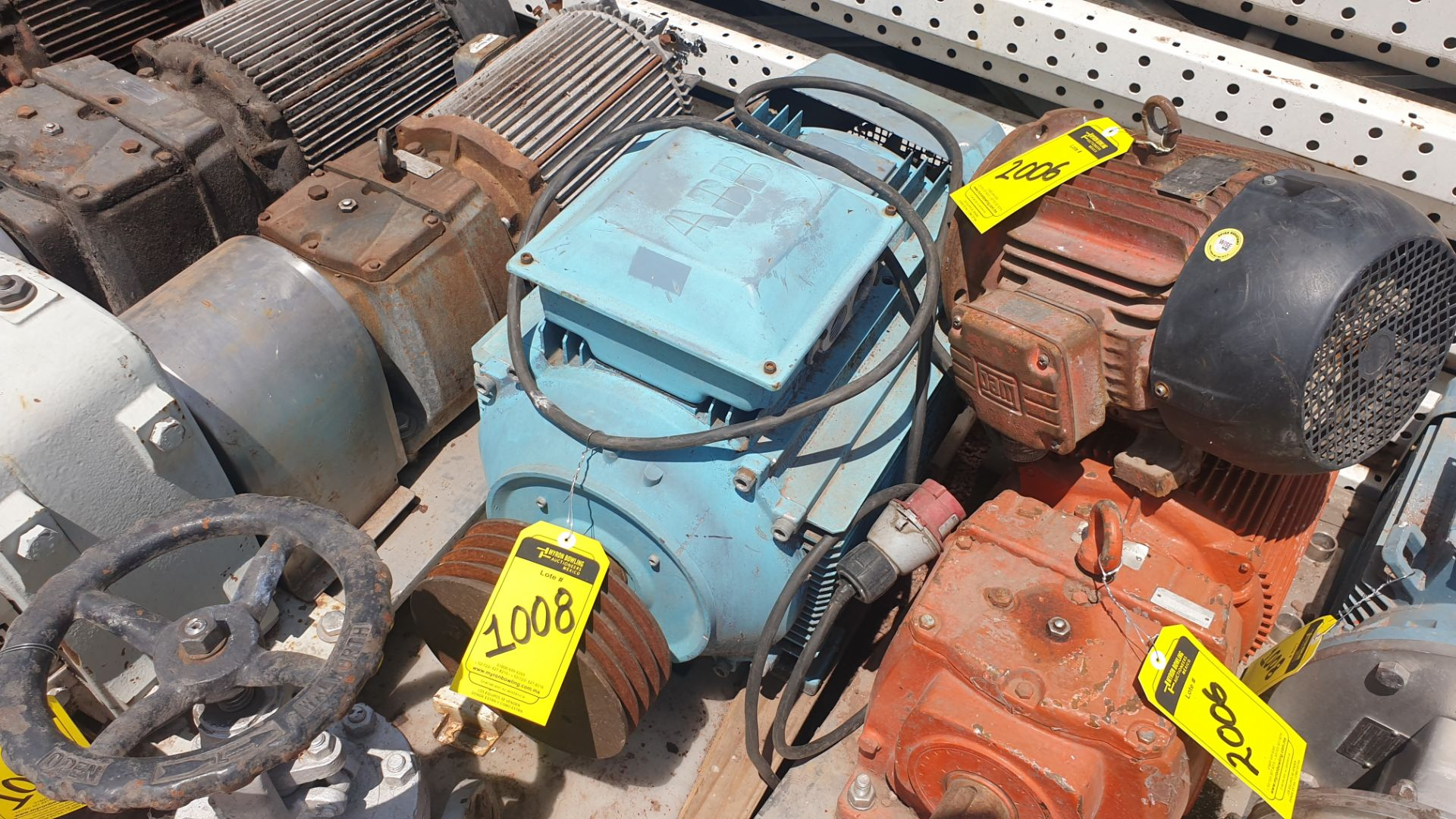 1 ABB motor without plate, 1 ABB motor model M2AA160M2 15KW