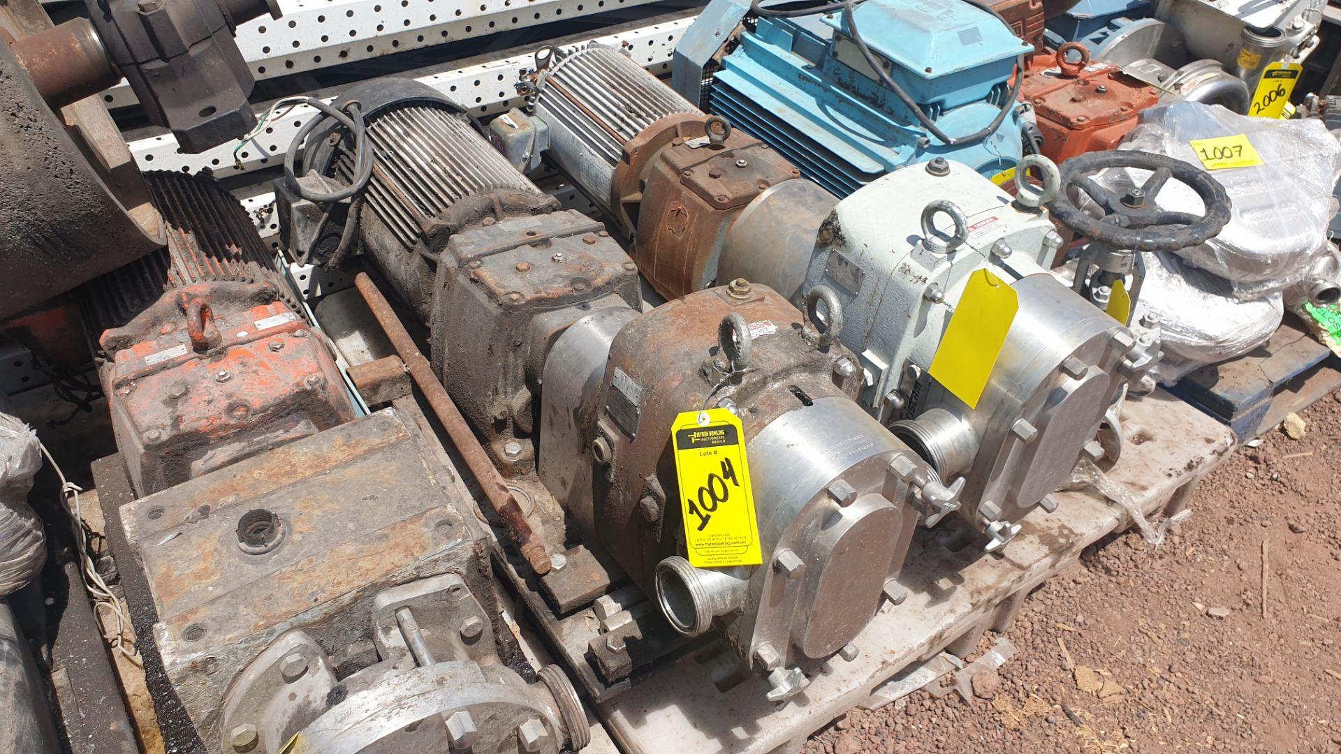 Fristam Lobe pump, model FKL75A serial number FKL75A1315303 includes motor - Image 8 of 9