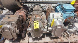 Fristam Lobe pump, model FKL75A serial number FKL75A1315303 includes motor