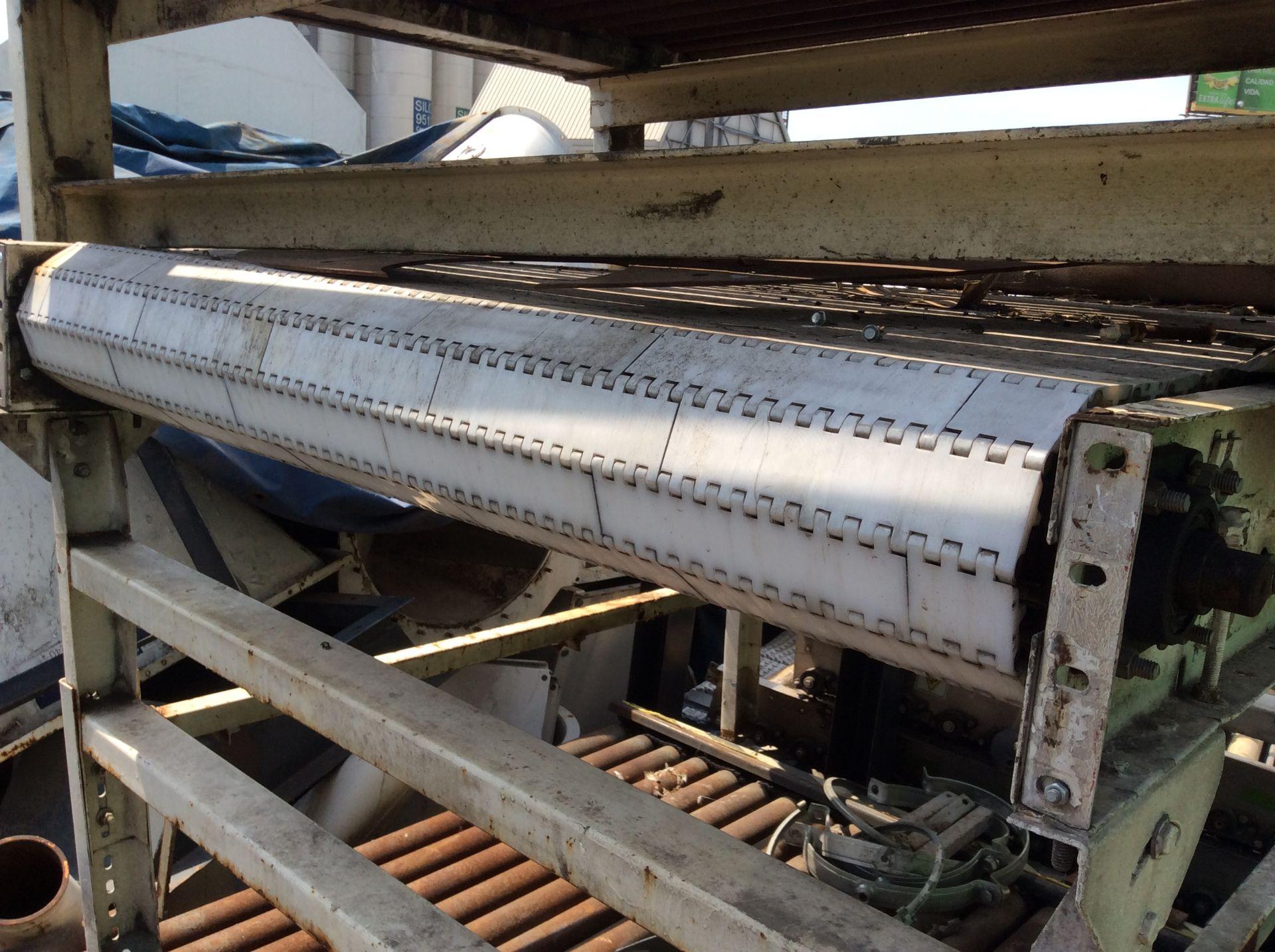 1 Roller conveyor, measures 1.37 x 1.50 x .67, 1 Conveyor measures 1.20 x 2.08x .65 - Image 3 of 8