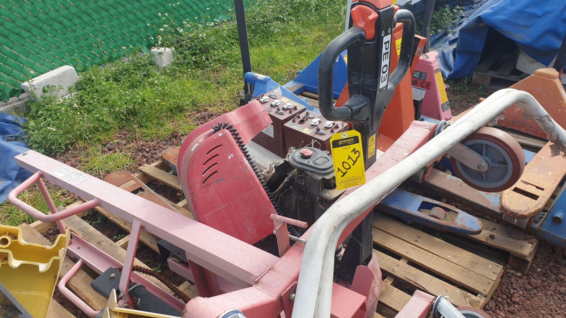 2 HYSTER lift pallet truck model W45ZHD 24 V , 1 DAYTON lift pallet truck model 21XV82 - Image 8 of 21