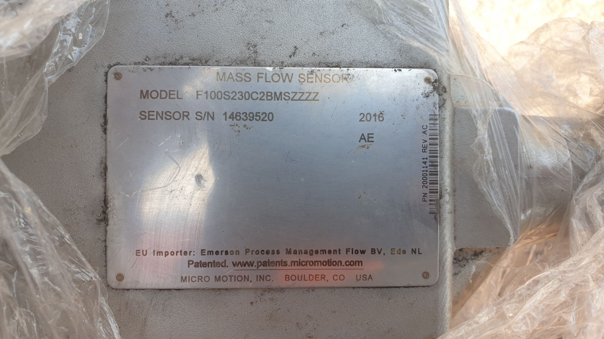 Micromotion Flow meter, model F100S230C2BMSZZZZ NS 14639520 2016 - Image 5 of 10
