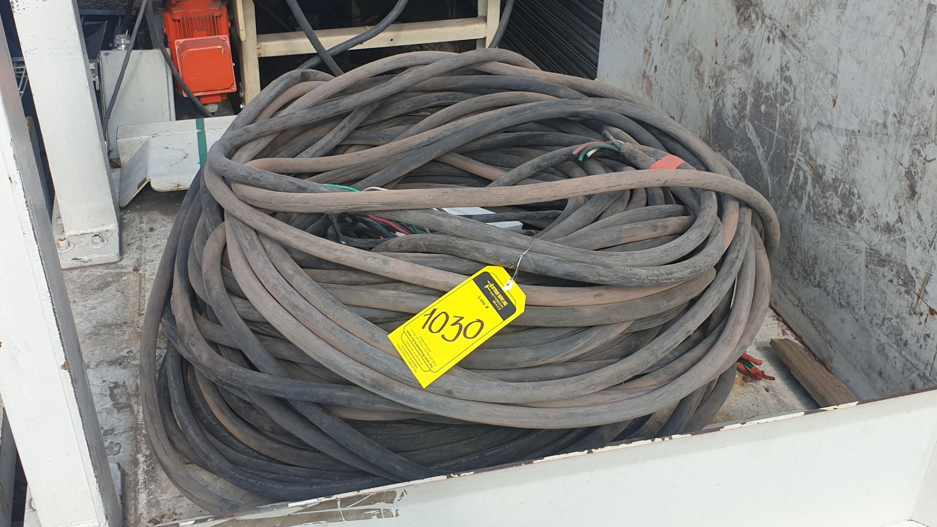 Lot of cable for high tension of 3 lines different gauge 80 mts approximately - Image 6 of 6