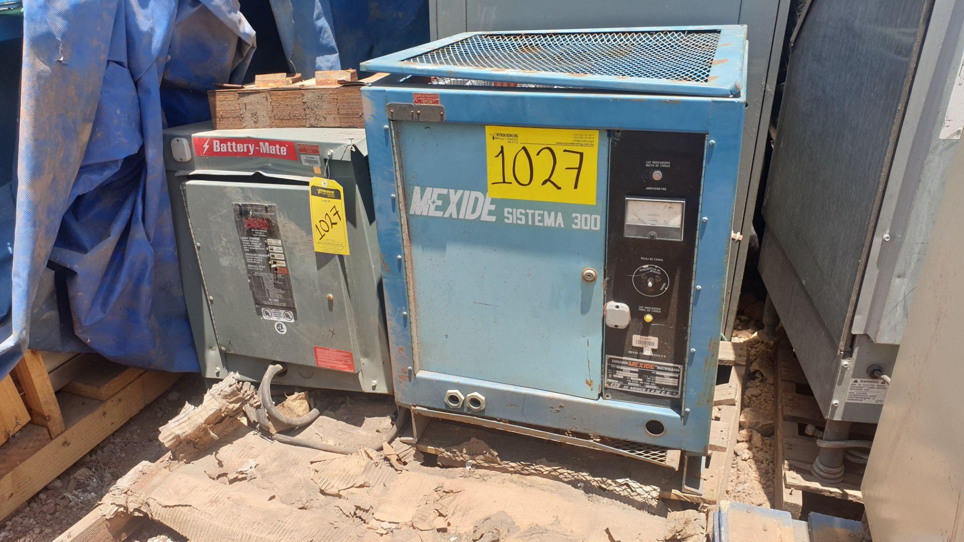 1 Battery-Mate charger, model 1050H3-18C 208/240/480V, 1 Mexide charger model CAS18.3.700 - Image 3 of 9