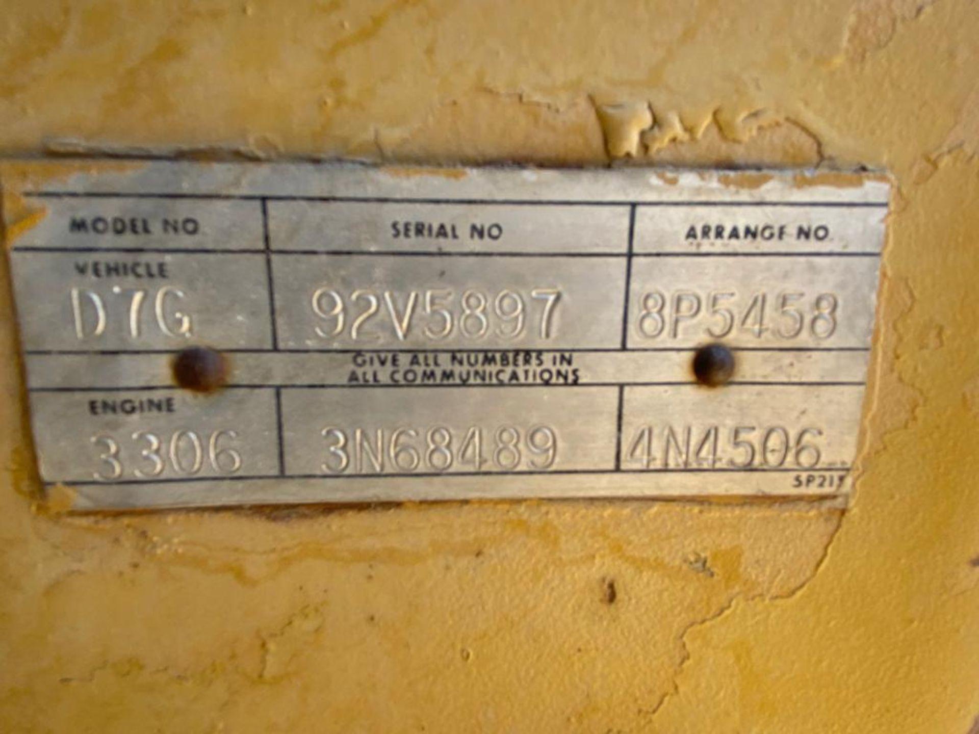 Caterpillar D7G Bulldozer, Serial number 92V5897, Diesel motor - Image 47 of 48