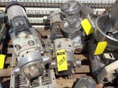 1 Fristam Lobe pump, includes nema 3hp motor