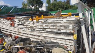 Lot of rack, 20 posts and 125 crossbars ( approximate parts). Please inspect