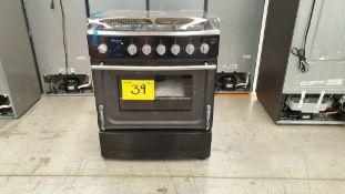 1 Estufa marca Koblenz color negro/gris de 6 quemadores modelo EK-1131 CD-NIHIF