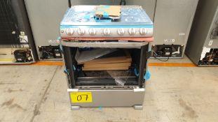 1 Estufa marca Mabe color gris de 6 quemadores modelo EM7654BFIS1B