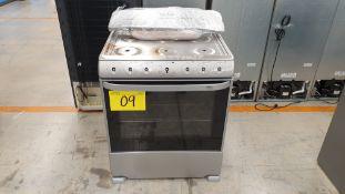 1 Estufa marca Mabe color gris de 6 quemadores modelo EM7641BAIS1A