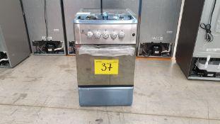 1 Estufa marca Supra color gris de 4 quemadores modelo 4Q-H-TA