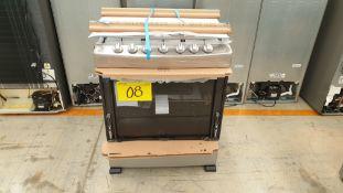 1 Estufa marca Whirlpool color gris de 6 quemadores modelo WF7419D00