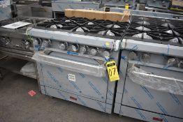 Estufa A Gas 6 Quemadores Y Horno Grande Acabado En Acero Inoxidable Modelo Lux-E88-6-H Marca Lux