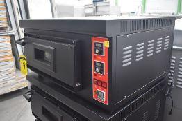 Horno Para Pizza A Gas 1 Gaveta 220v 60hz ModeloHgp-1 Marca Alpha Nuevo Medidas 0.91 X 0.77 X 0.46