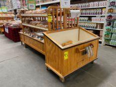Mueble para panadería medidas 1.90 x 1.10 x 1.50 con 3 niveles para exhibición