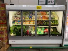 Vitrina refrigerada para vegetales marca Hussmann