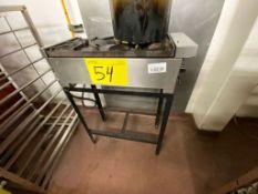 1 Estufon de acero inoxidable a gas LP de 2 quemadores marca Caisa