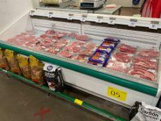 Vitrina refrigerada tipo bunker para carnes marca Hussmann