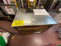 1 Mesa de trabajo de acero inoxidable medidas 0.70 x 1.00 x 0.88