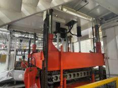 Prensa para moldeo de fibra de vidrio, 460V/3P/60HZ, tonelaje de prensa de 30 ton. a 150 ton