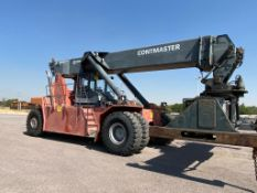 2004 Kalmar Reach Stacker, model DRS4531-55, serial T341140079, 45 tons, automatic transmission