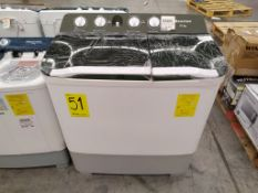 Lavadora Semiautomática Marca Hisense de 16 Kg, Modelo WSA1603P, Serie W-D2WA, Color Blanco, LB-597