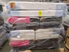 Lote de 4 colchones Matrimoniales Marca Selter con una base tipo box LB-343130/343131/347501 y 2 Ma
