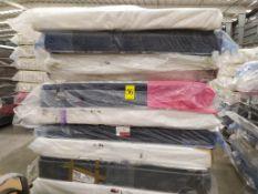 Lote de 5 colchones Individuales con base tipo box Marcas Selther, America, Bio Mattress LB-342904/