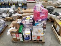 Tarima de Artículos varios (Incluye 26 cajas Aproximadamente) Favor de inspeccionar (No se asegura