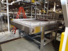 """ABC Conveyor 8' x 9'-6"""" Bi-Directional Accumulation Table, Stainless Steel with 