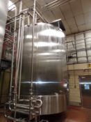 Cherry-Burrell Model CVL 10,000 Gallon Top Agitated Mixing Tank, S/N: 10000-83- | Reqd Rig Fee $2000