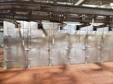 """B&S Stainless Steel Proofer Box, 24' Wide X 26' Deep X 80"""" Tall, W/ Monorail Syst 