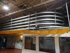 Lanham Overhead Cooling Conveyor, 84' Overall X 5 Tier, W/ Drives, Washer & Contr | Rig Fee See Desc
