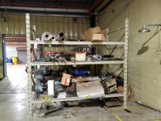 Pallet Rack Section, W/ Contents, Spare Parts | Rig Fee $250