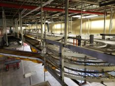 Sasib Overhead Cooling Conveyor, 75' Overall X 3 Tier, W/ Drives, Washer & Contro | Rig Fee See Desc
