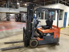 Toyota 3,500 Lb. Electric 3-Wheel Forklift, M# 7FBEU20, S/N 17621, 36 Volt, (9,963 H   Rig Fee $300