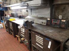 Work Bench, W/ (2) Vises | Rig Fee $75