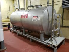 Lundy 2,000 Gallon Stainless Steel Tank Skid, W/ Transfer Pump & Control   Rig Fee $650
