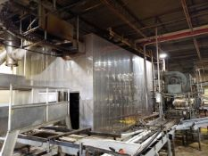 """Lanham Stainless Steel Monorail Type Spiral Oven, M# CP-1, 16' X 46' X 12'7"""" Tall 