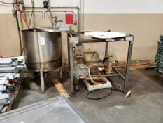 90 Gallon Mix Tank, W/ Heat Exchanger & Pump | Rig Fee $150