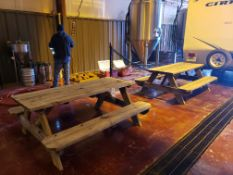 Lot of (2) Picnic Tables | Rig Fee $50