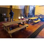 Lot of (2) Picnic Tables   Rig Fee $50
