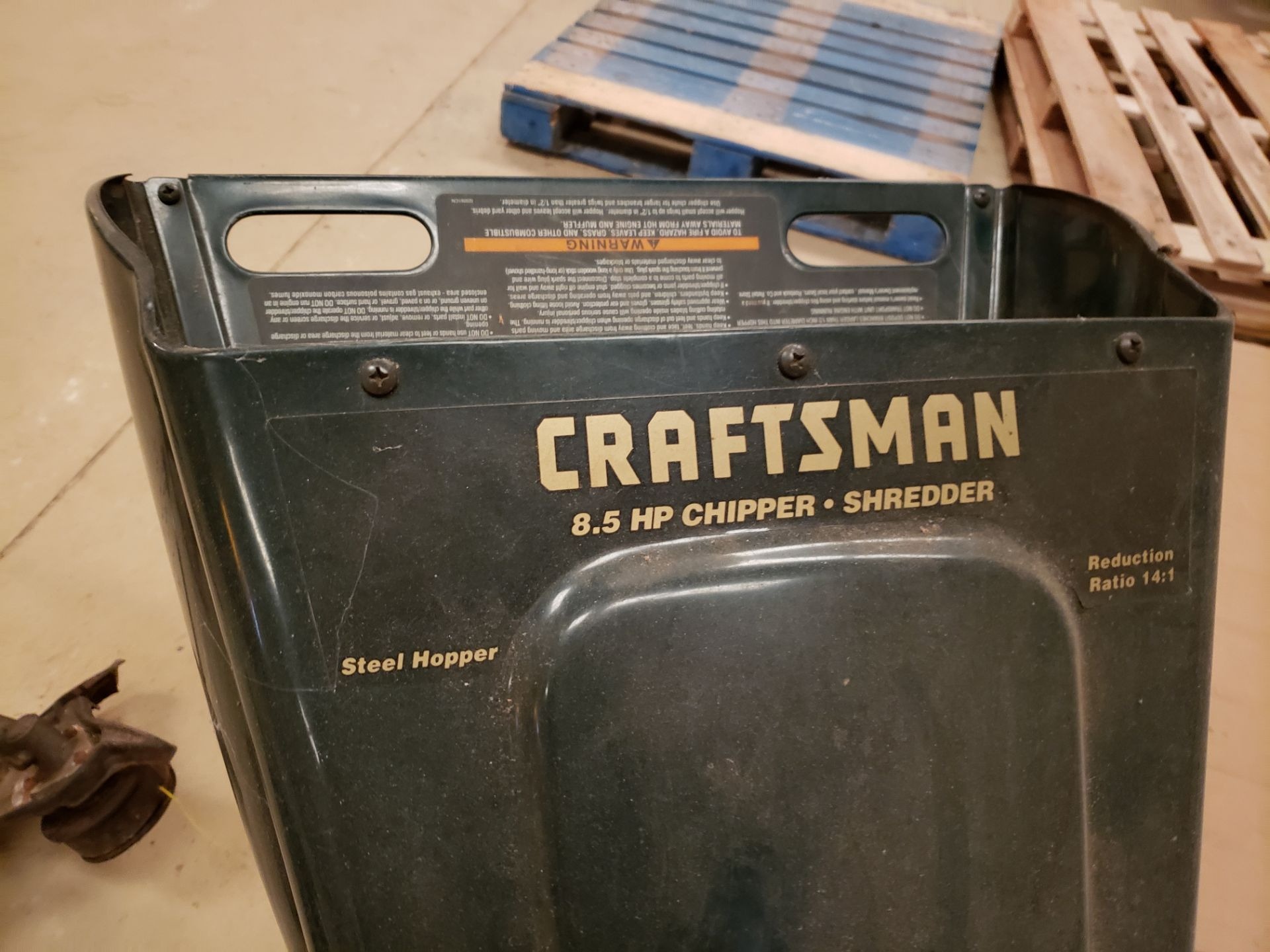 Craftsman 8.5 HP Wood Chipper | Rig Fee: Hand Carry or Contact Rigger - Image 2 of 2