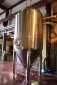 2013 Specific Mechanical 40 BBL Fermenter, Glycol Jacketed, Approx 6' - Subj to Bulk | Rig Fee $850